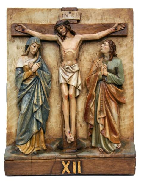 Via Crucis realizado en Arte Granda. Material resina policromada.